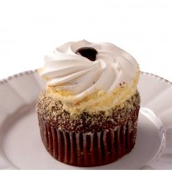 Cupcake - Devil Cupcake With Vanilla Frosting