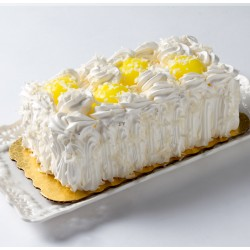 Cake Lemon Coconut Log Cake