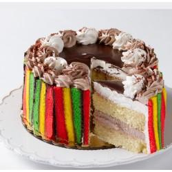 Cake - Round - Rainbow Cake