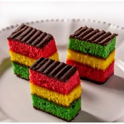 Petit Four - Cake - Rainbow Cake