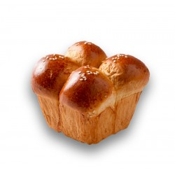 Challah - Heimische 4 Ball Square Challah Roll
